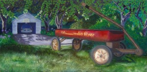 """My First Car"" 18""x36"" oil on canvas - 2013 - by Ryan Williams"