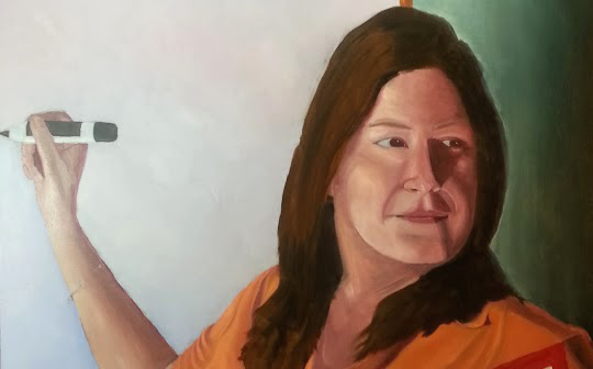 In this portrait there are 5 color groups to work with.