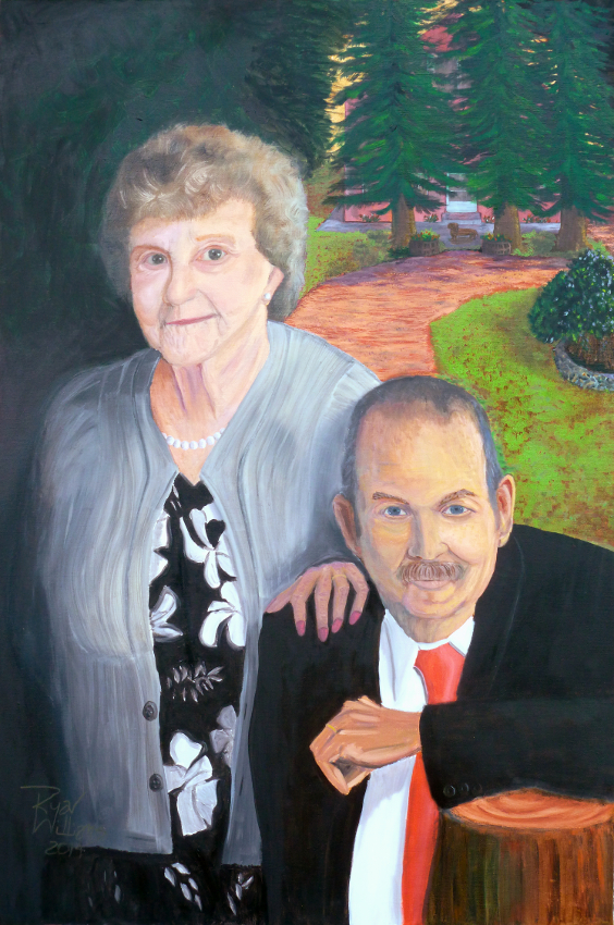 Forever Belles (2014) - Phyllis Lucille Belles and Lynn Calvin Belles have been married since 1946 and they just happen to be my grandparents. They are a model of love and trust that is so lacking in this world today. This painting is a small tribute to the wonderful people they truly are.