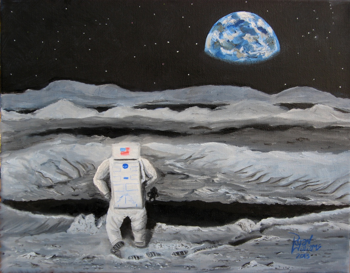 Moonwalker (2013) - It's more than just a tribute to the Space program; this painting is also about achievement and overcoming insurmountable odds.
